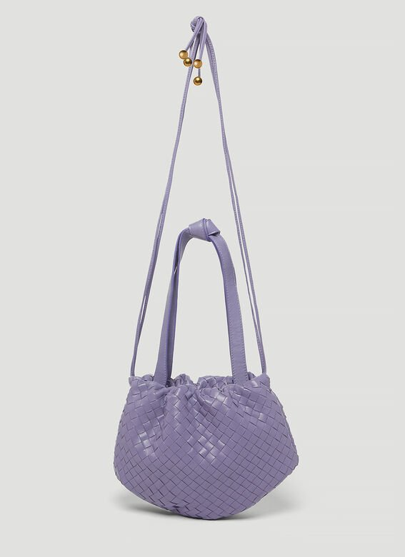 BV香芋紫编织包