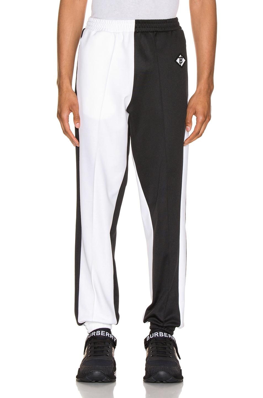 黑白配长款卫裤