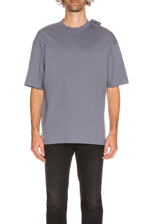 纯色标签T恤
