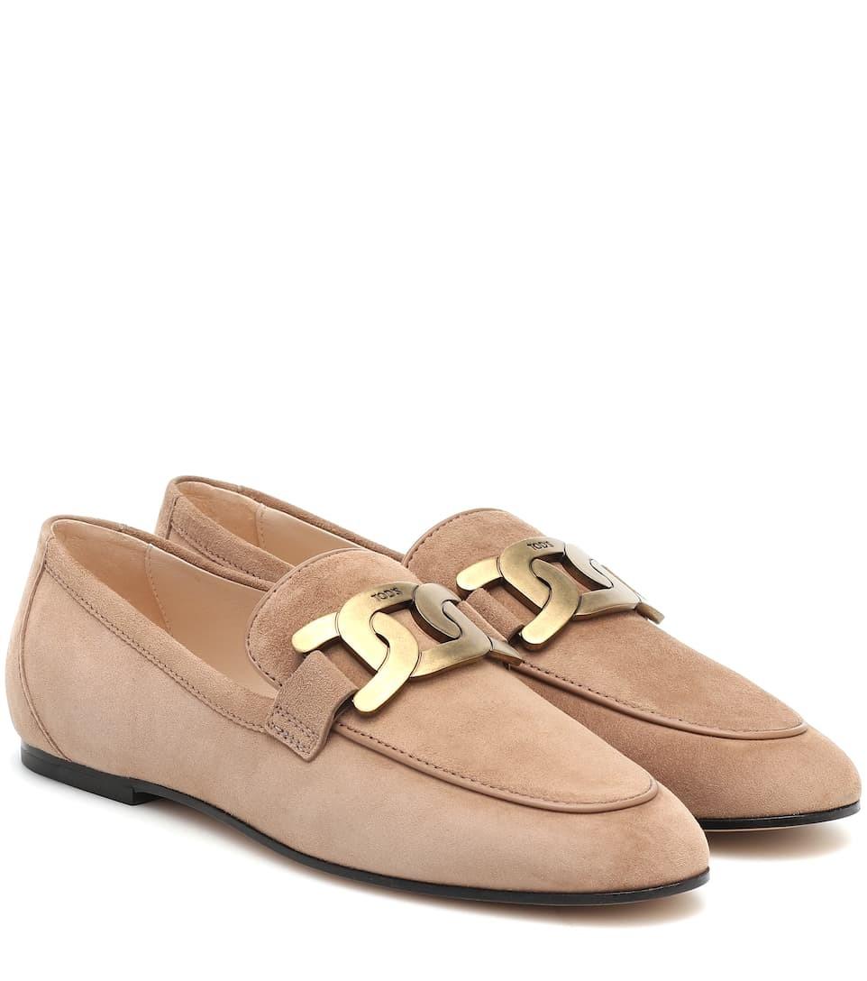 TOD'S Kate绒面革乐福鞋