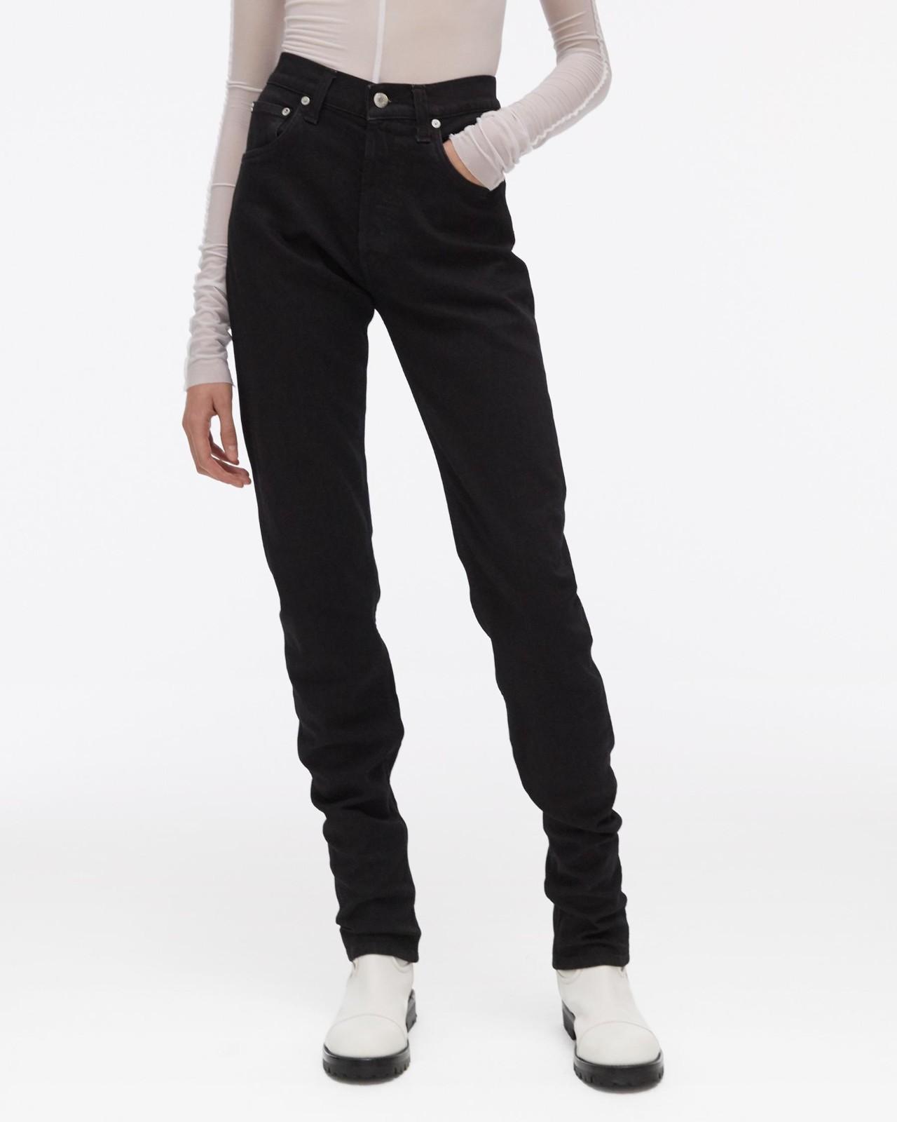 直筒高腰牛仔裤