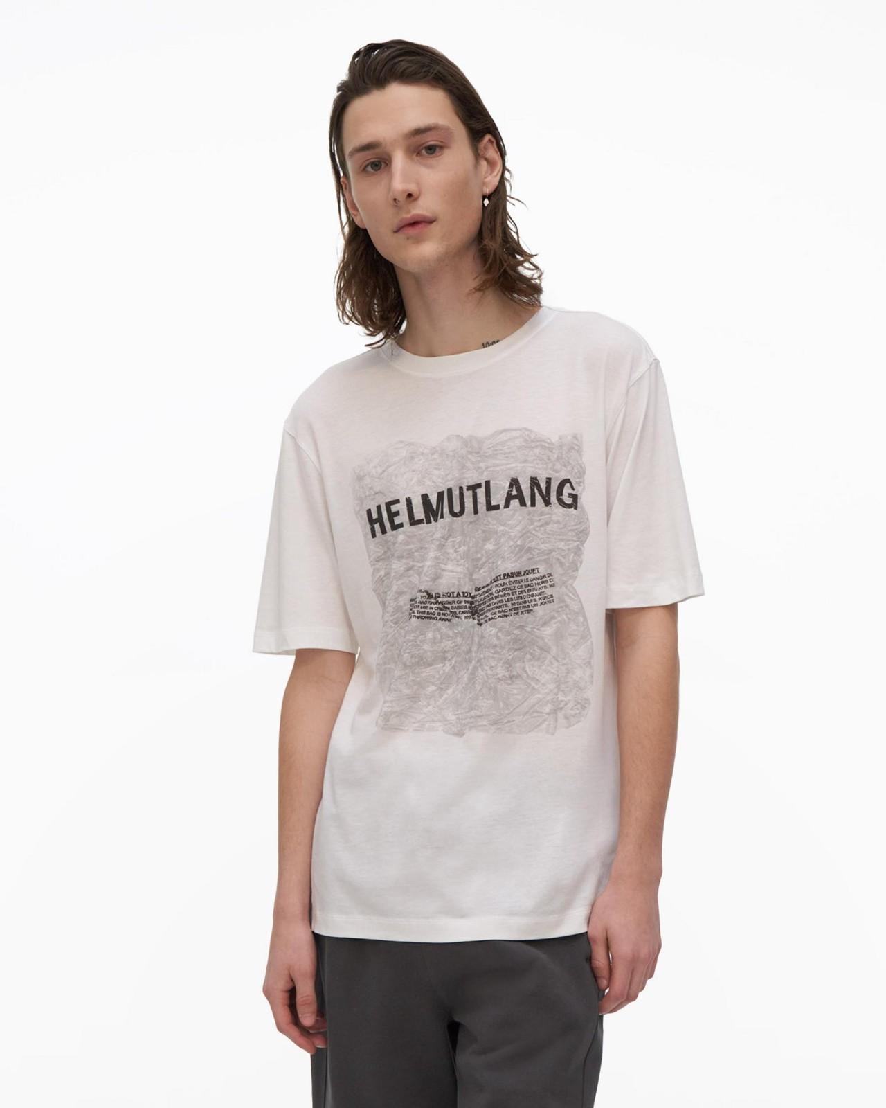 印花方格纯棉T恤