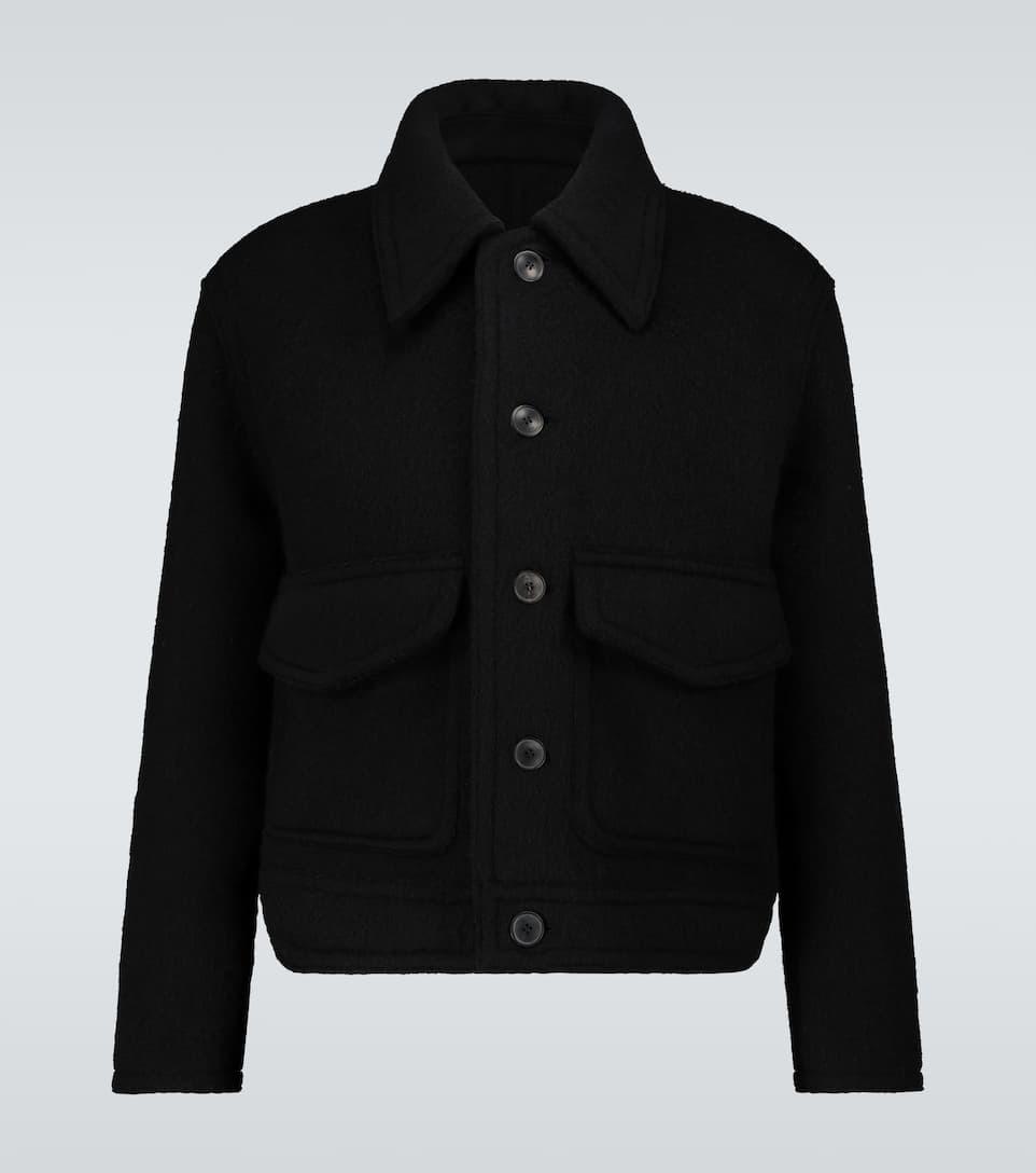 AMI PARIS 羊毛双拼接口袋夹克