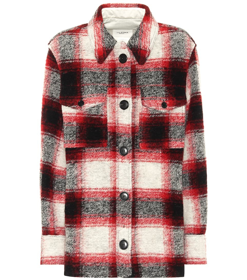 Gastoni格纹羊毛混纺夹克
