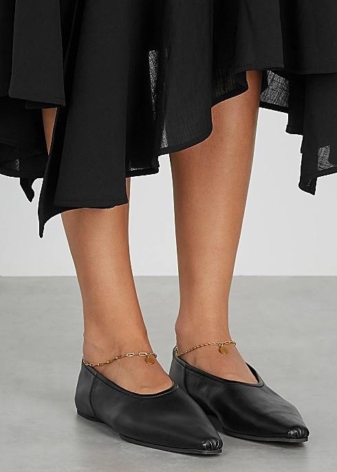 链条平底乐福鞋