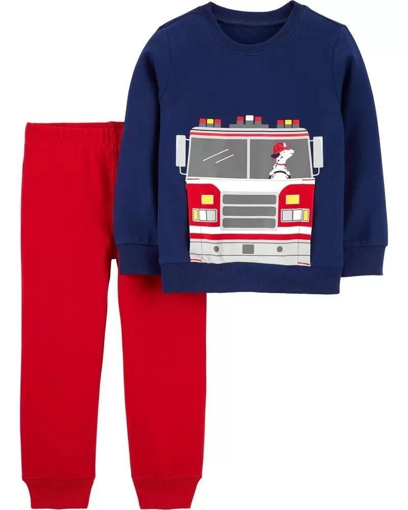 婴儿消防车外套套装