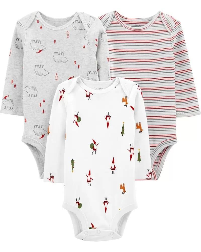 婴儿有机包臀衫3件套