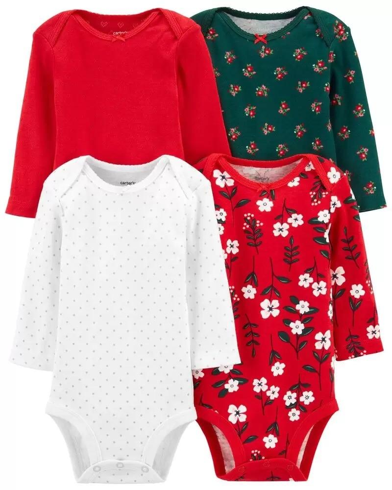 女婴节日包臀衫4件套