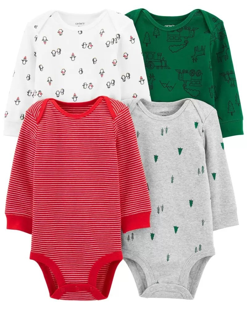 男婴节日包臀衫4件套