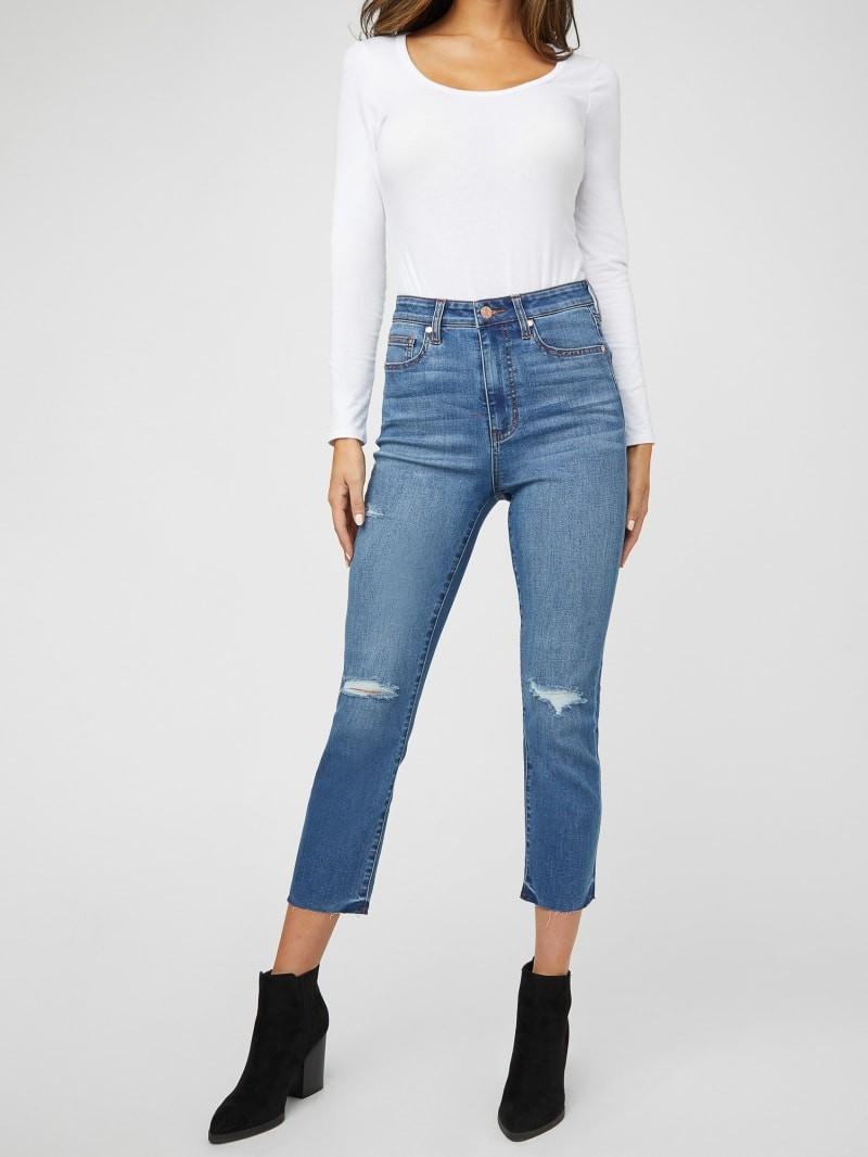 女款直筒牛仔裤