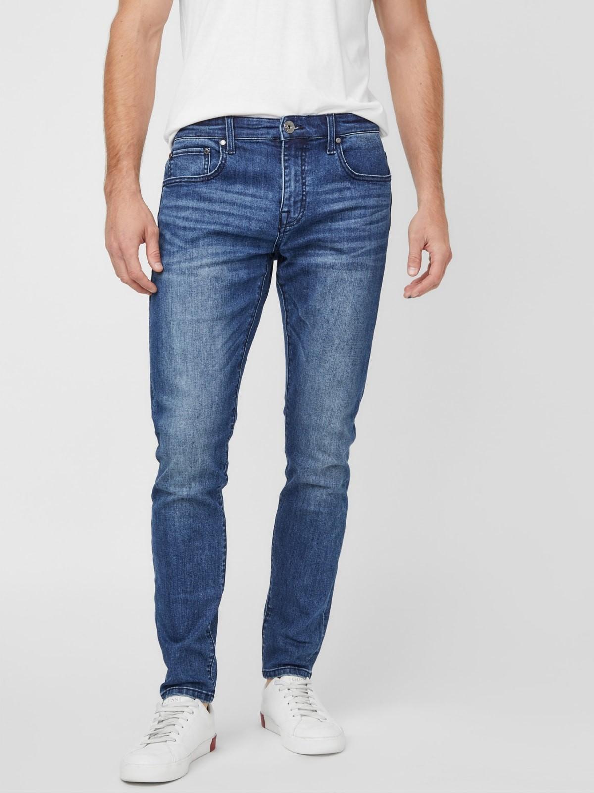 男款修身牛仔裤
