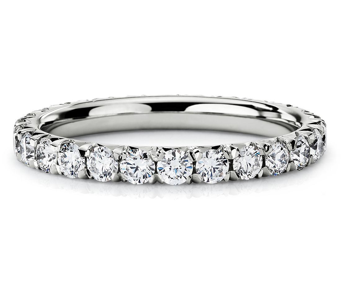 铂金钻石永恒戒指