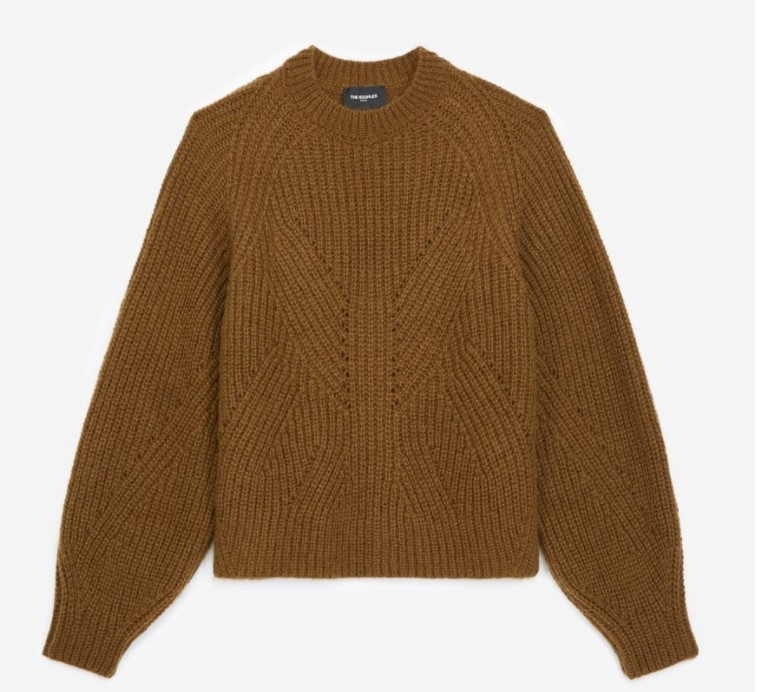 泡泡袖针织毛衣