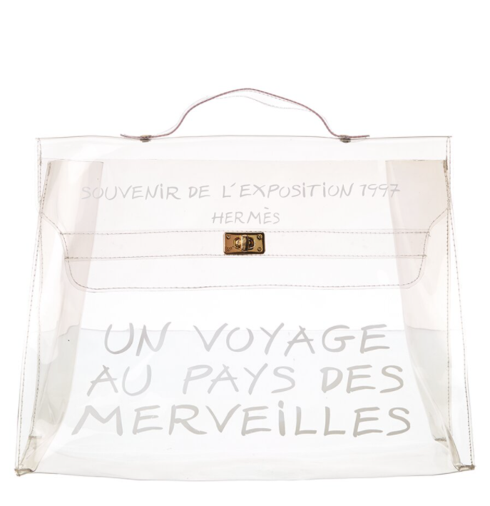 Hermès Clear Vinyl Kelly Tote