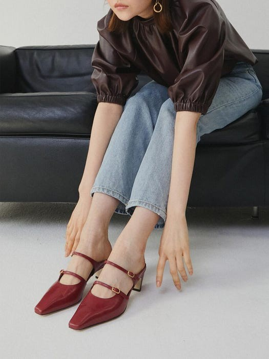 双带穆勒鞋