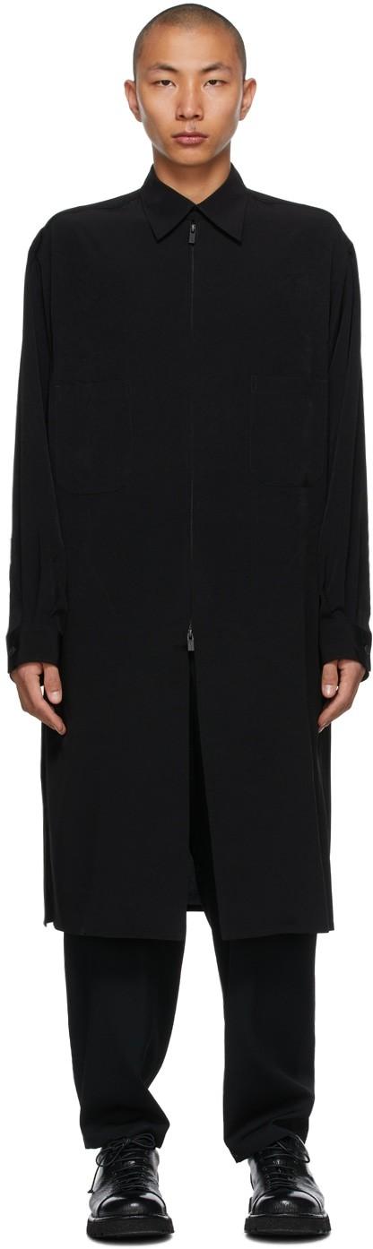 黑色 Fastener 大衣