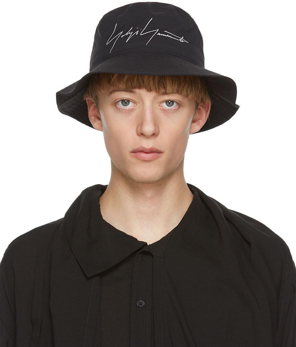黑色徽标渔夫帽