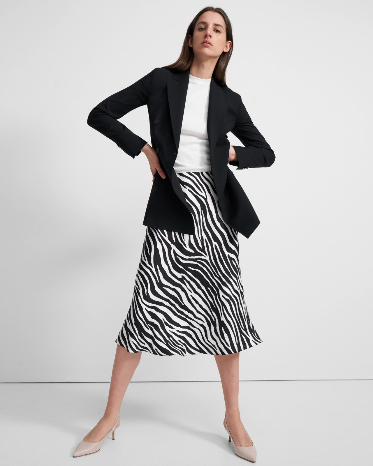 斑马纹斜纹裙