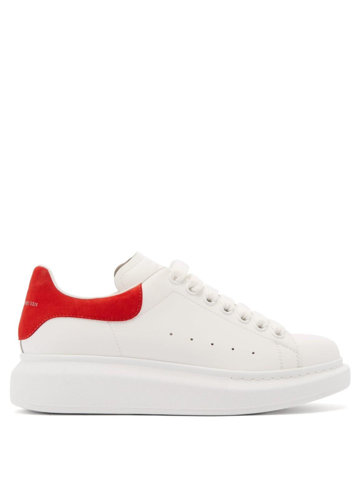 麦昆红尾小白鞋
