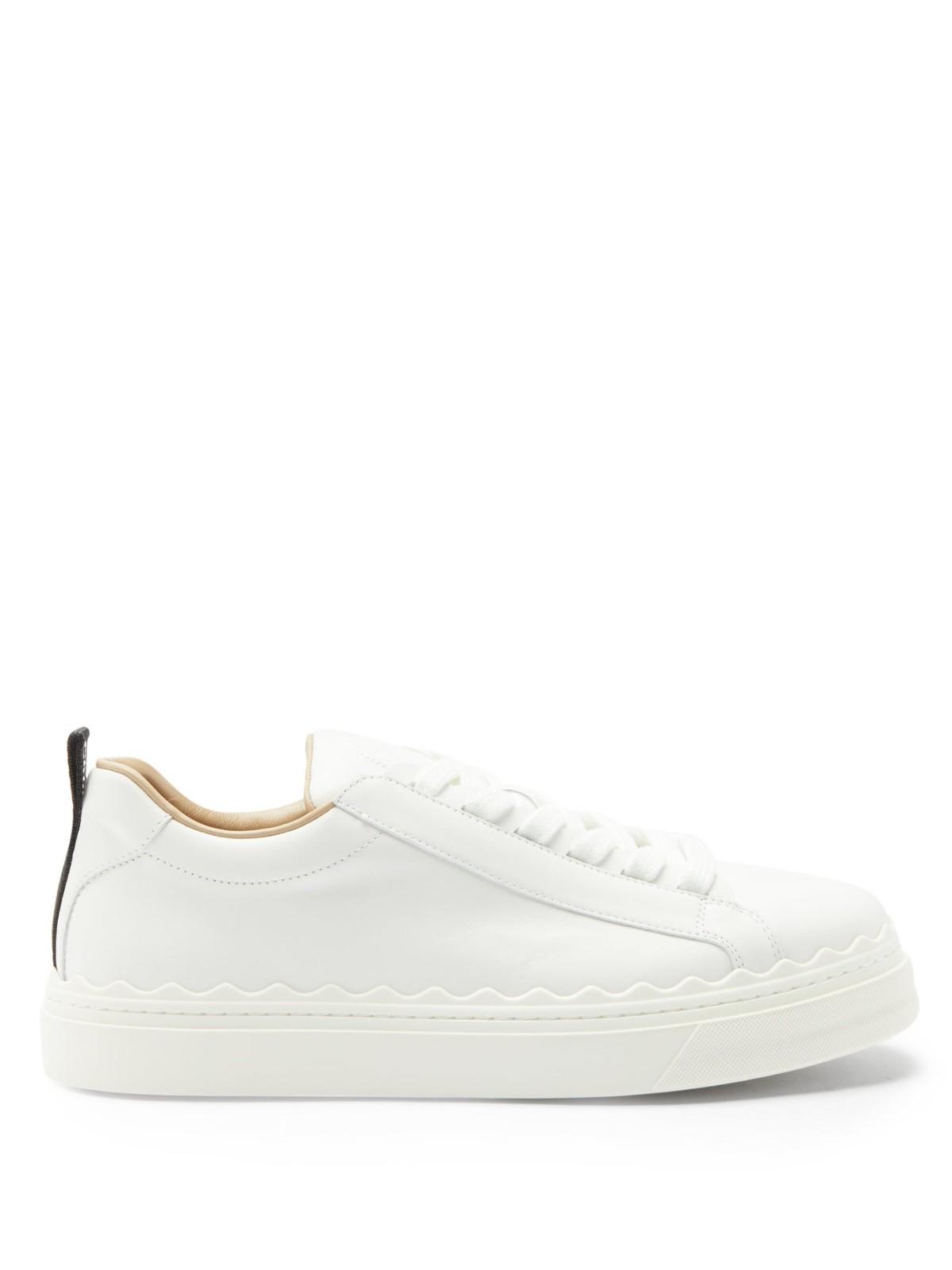 CHLOE 花瓣小白鞋