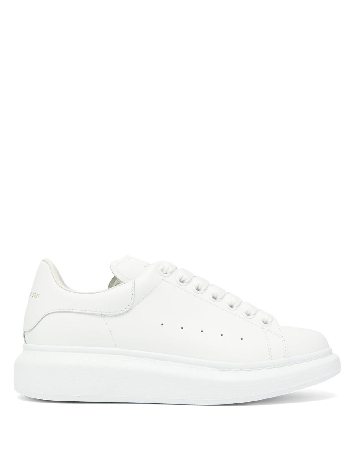 麦昆厚底小白鞋