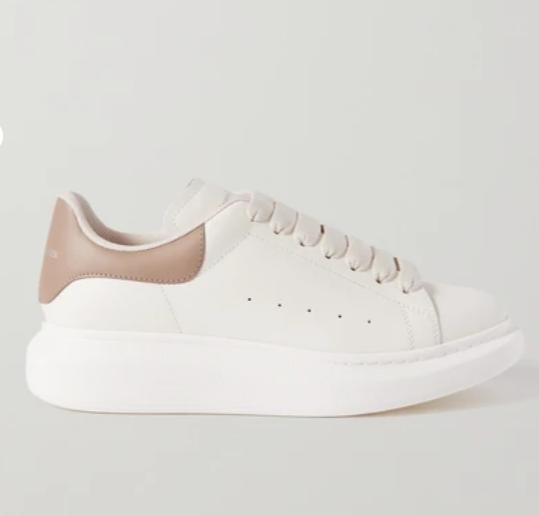 皮革厚底运动鞋