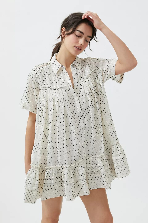 宽松衬衫裙