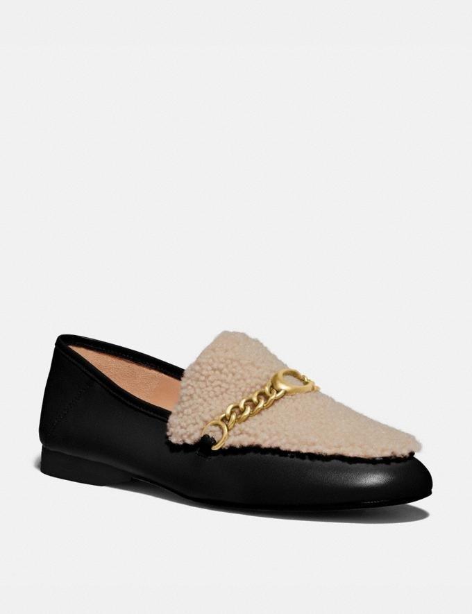 毛茸链条乐福鞋