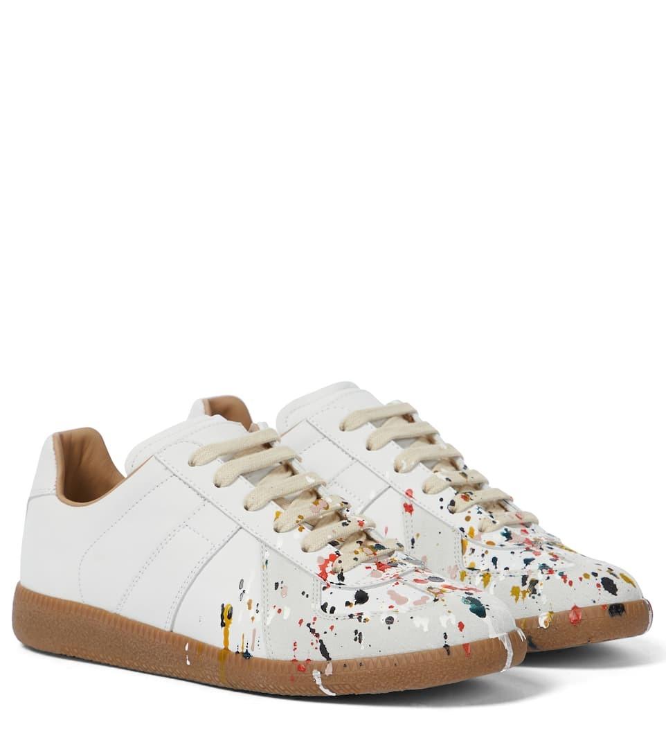 Replica皮革运动鞋