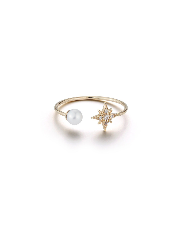 开口珍珠戒指