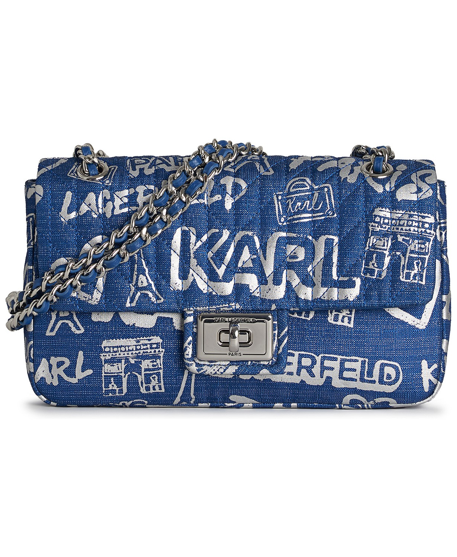 Karl Lagerfeld丹宁斜挎包