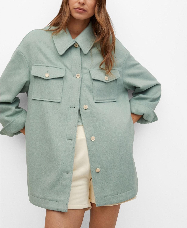 羊毛混合外套