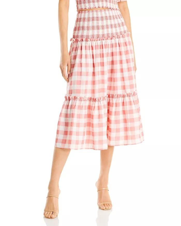 格纹半身裙