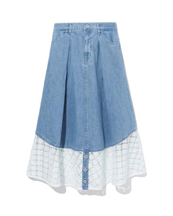 拼接设计牛仔半身裙