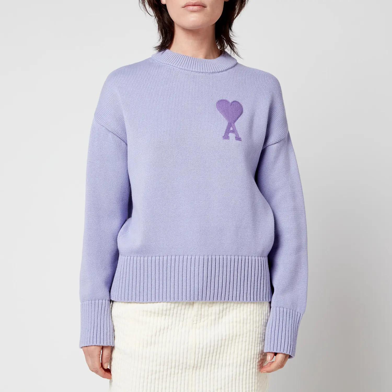 紫色毛衣 L