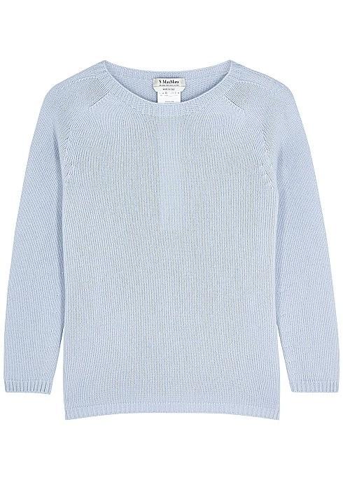 温柔蓝羊毛衫