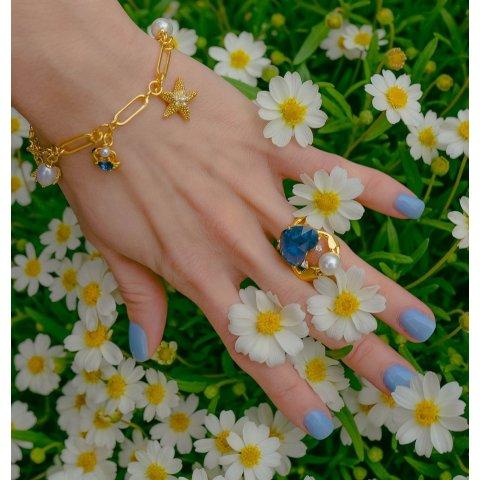 海星蓝宝石戒指