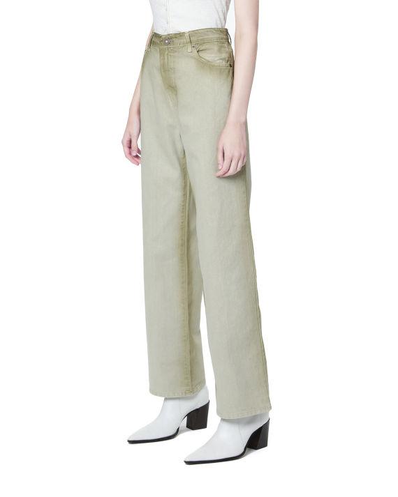 扎染直筒裤