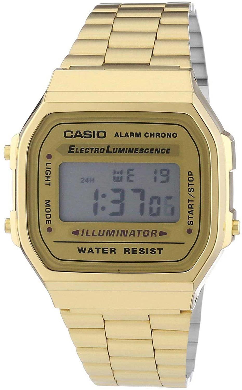 CASIO卡西欧 潮流复古方块小金表 A168WEGM-9EF男款