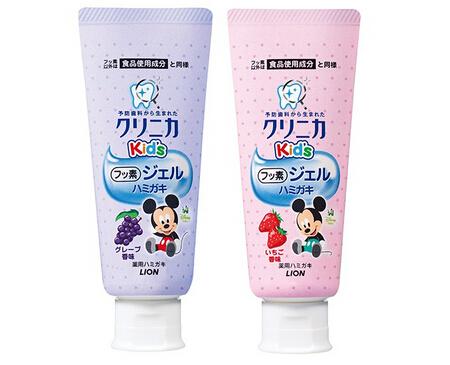 LION 2017新品 1岁起适用氟素牙膏 ...