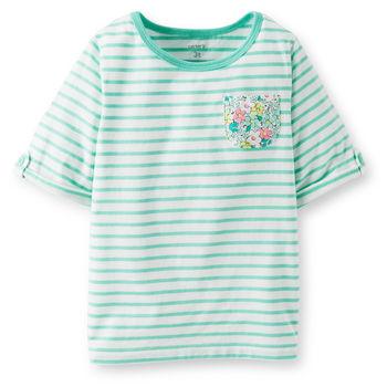 253B486Carter 2T 3T 5 6 七分袖绿色条纹上衣.jpg