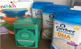 【开箱晒物】iherb买了米粉和吸盘碗,送了我一盒茶叶