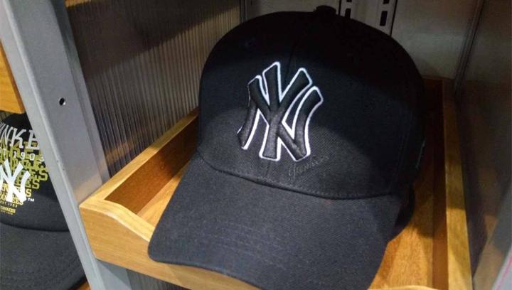 【开箱晒物】MLB美职NY金丝边棒球帽,出街凹造型必备~