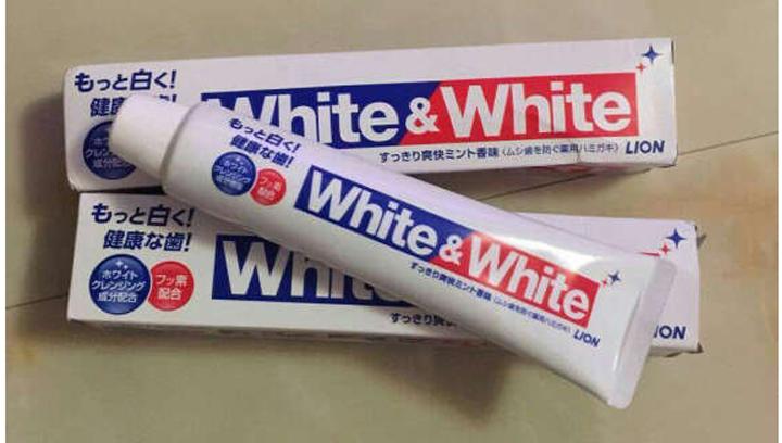 【开箱晒物】LION狮王WHITE&WHITE美白牙膏,美白清洁~