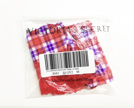 Victoria's Secret红色格子内裤(M码) ...