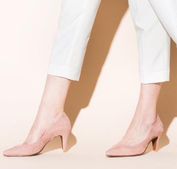 Lucky!美美的,粉粉的,Velikoko粉色绒面高跟鞋