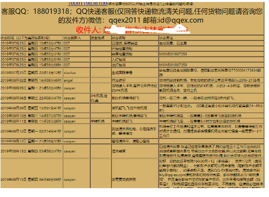 QQ-EX美国转运快递物流晒单返利1000119836100