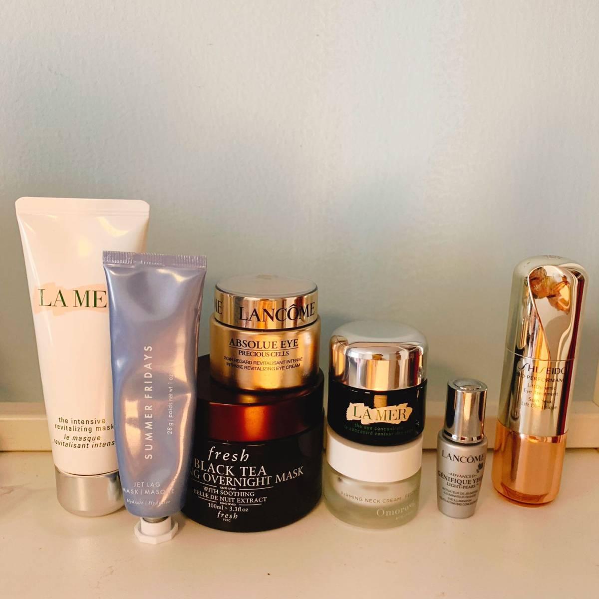 #我家梳妆台#日常爱用品分享 🍇一、爽肤水和喷雾 图上介绍