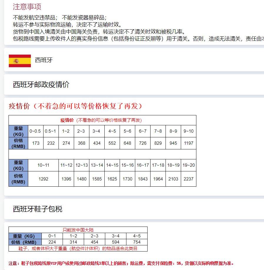 汇总5家西班牙转运公司推荐,靠谱西班牙包税转运公司大全,详细