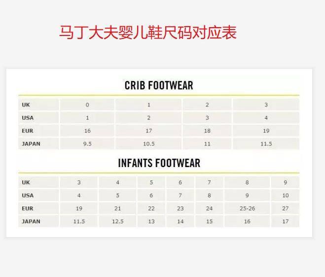 海淘Dr.Martens马丁大夫鞋尺码对照表,马丁鞋子尺码对